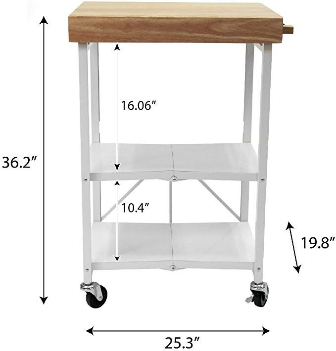 Amazon Com Origami Folding Kitchen Cart On Wheels For Chefs