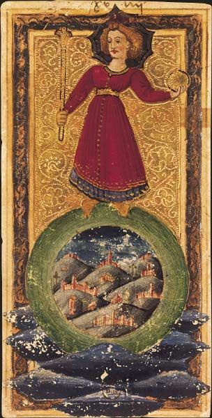Le Monde, Tarot dit de Charles VI, fin du XVe siècle, Italie du Nord