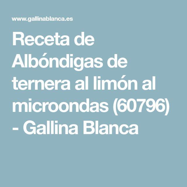 Receta de Albóndigas de ternera al limón al microondas (60796) - Gallina Blanca