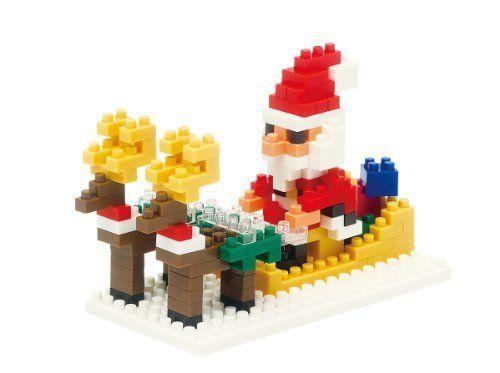 #transformer nanoblock santa claus and reindeer 2013 nbc-098