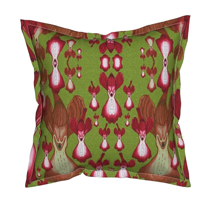 Serama Throw Pillow featuring O. Elegans by joancaronil | Roostery Home Decor