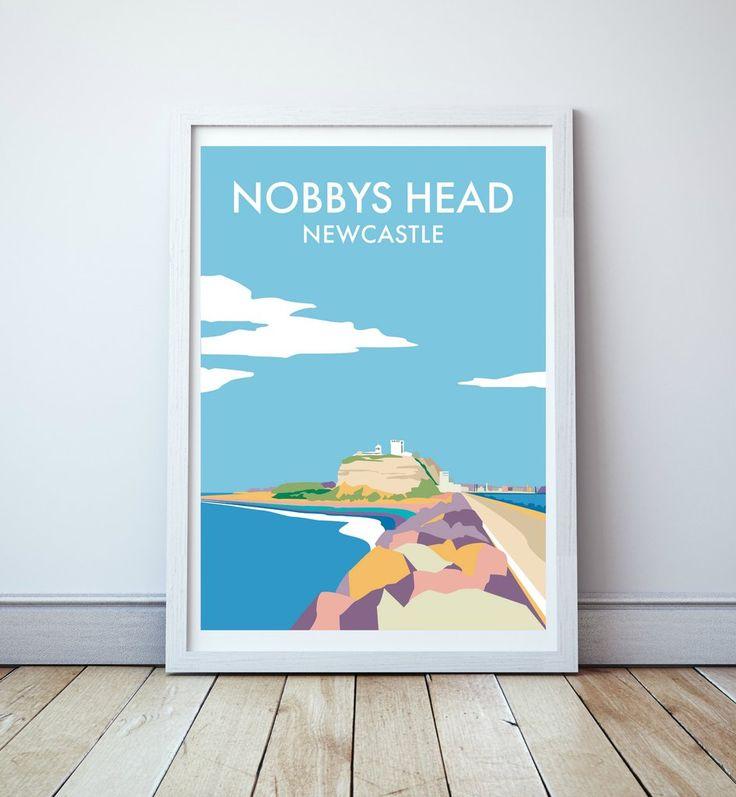 Nobbys Head Travel Print
