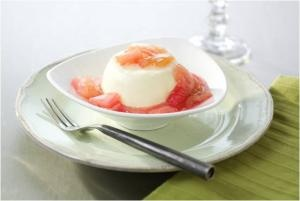 ... panna cotta panna cotta with poached rhubarb recipes dishmaps lavender