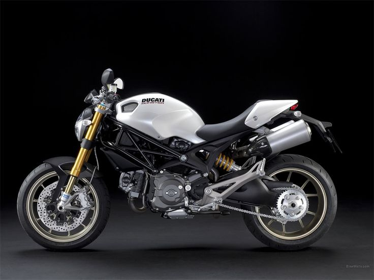Ducati Monster 696 White Wallpaper Desktop