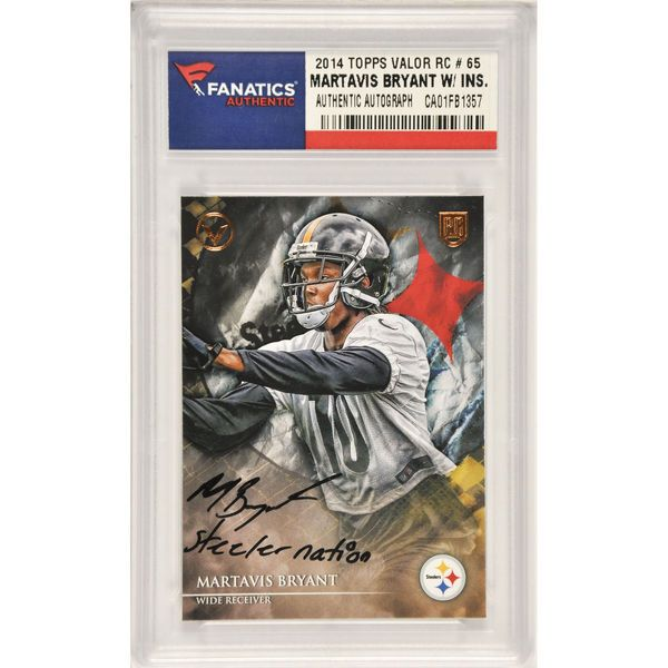 Martavis Bryant Pittsburgh Steelers Fanatics Authentic Autographed 2014 Topps Valor Rookie #65 Card with Steeler Nation Inscription - $99.99