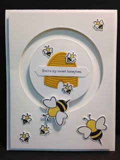 Sliding Star, Shooting Star, Bee Spinner Card, Friendship Card, Stampin' Up!, Rubber Stamping, Handmade Cards