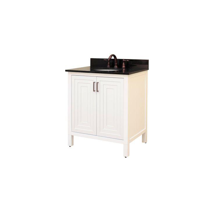 "Audra 24"" Bathroom Vanity Cabinet in White"