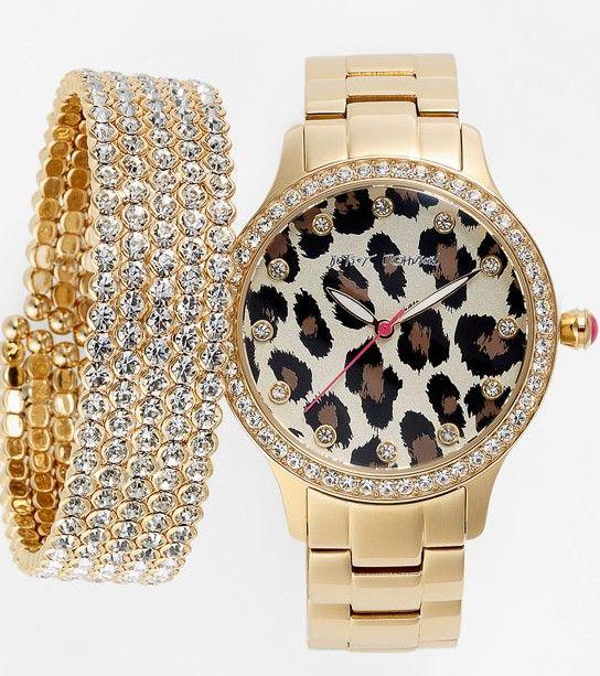Betsey Johnson Watch & Cara Accessories Bracelet