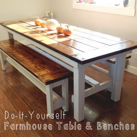 do it yourself farmhouse table benches home pinterest house och inspiration. Black Bedroom Furniture Sets. Home Design Ideas