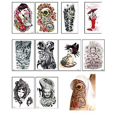 10 Tatuaggi adesivi Altro Non ToxicNeonato Bambino Da donna Da uomo Teen Tatuaggio temporaneo Tatuaggi temporanei del 5592657 2017 a €5.99