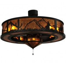 """Chandel Air Fans w/ Lighting : 44.5"""" Wide Tucson Chandel-Air with Lighting - #134833"""