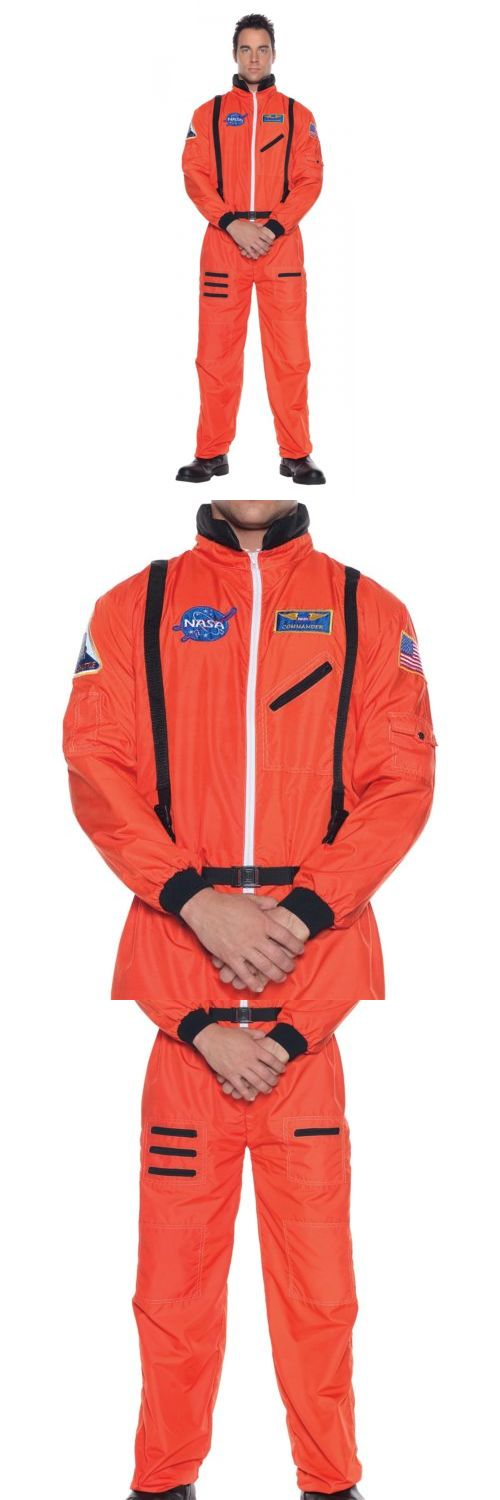Men Costumes: Astronaut Orange Nasa Space Suit Costume Halloween Fancy Dress -> BUY IT NOW ONLY: $30.09 on eBay!