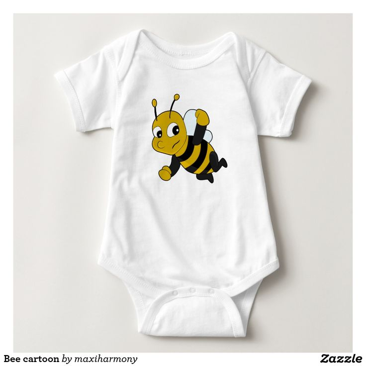 Bee cartoon infant creeper