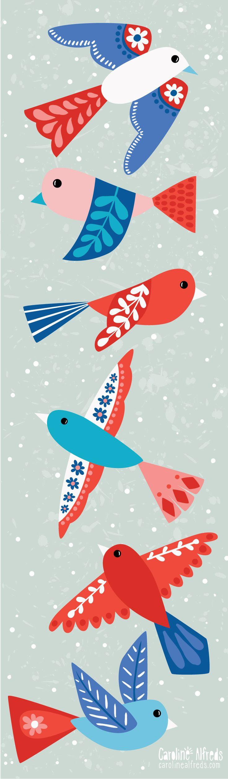 Birds illustration - Caroline Alfreds