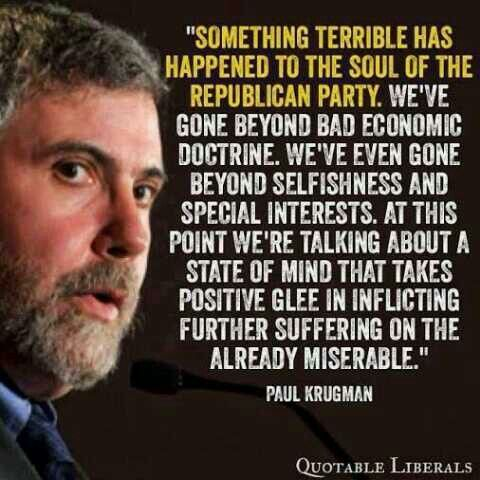 Image result for something terrible has happened to the soul krugman