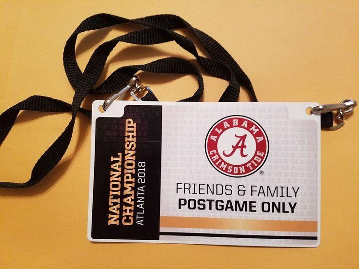 RARE 2018 Field Access CFP College Football National Championship Badge  #AlabamaCrimsonTide