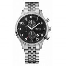 Hugo Boss Gents Stainless Steel Chronograph Watch 1512446