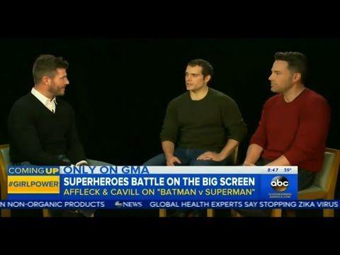 Ben Affleck and Henry Cavill talk 'Batman v Superman' on Good Morning America (Feb 16th, 2016) - YouTube
