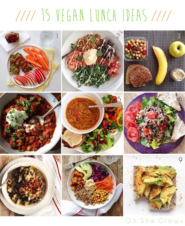 15 Vegan Lunch Ideas from Oh She Glows