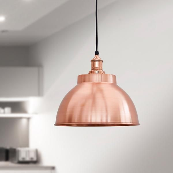 Our Brooklyn Dome Pendant Light in Copper is a fantastic statement piece and works perfectly with this month's Halloween theme http://www.industville.co.uk/collections/ceiling-lights-lampshades/products/brooklyn-vintage-metal-dome-lamp-shade-copper-13-inch