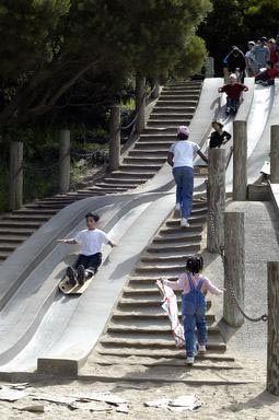 Golden Gate Park slide children's playground,San Francisco,California