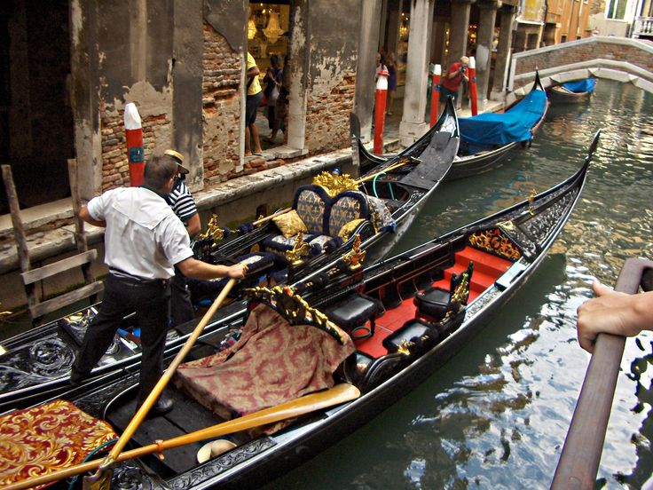 Typical Gondoliers in Venice