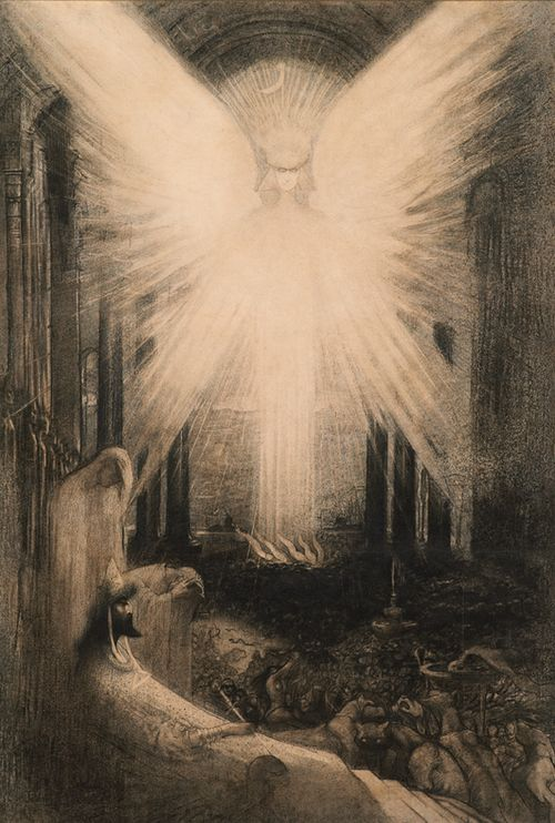 L'Allégorie de l'enfer (Allegory of Hell)      Jean Delville      1899