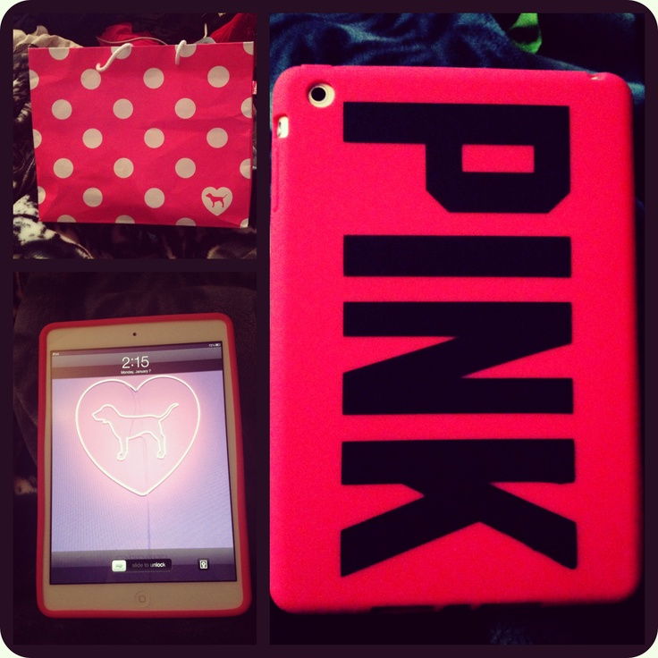 My iPad mini after I took a trip to the pink store <3