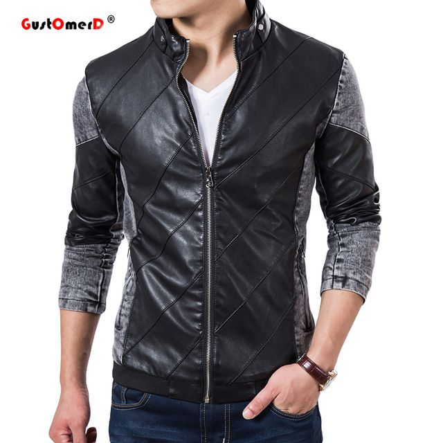Buy now 2016 Fall Top Quality Boutique Brand Jeans Jacket Men Slim Fit Male Leather Jacket Casual denim Jackets For Men Chaqueta Hombre just only $19.94 with free shipping worldwide  #jacketscoatsformen Plese click on picture to see our special price for you