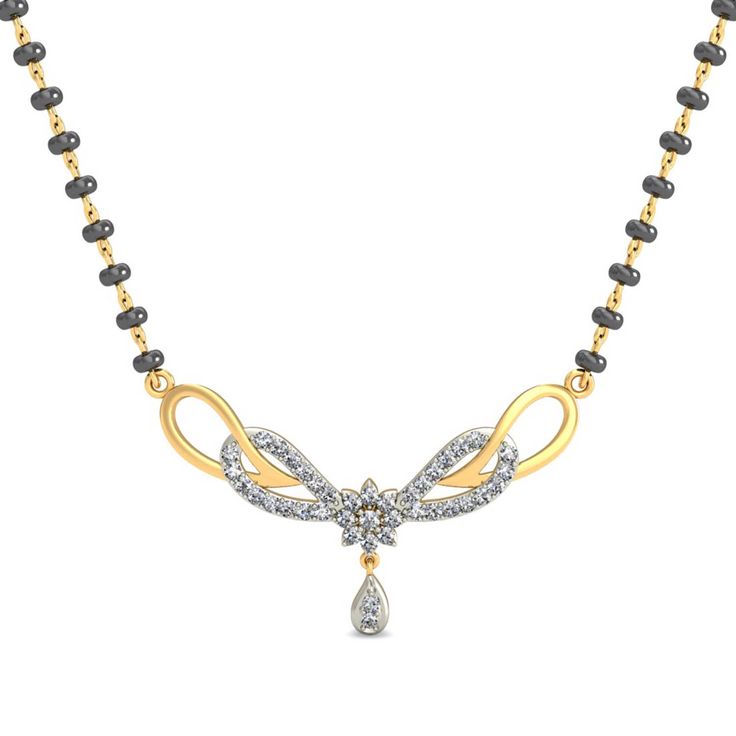 Shop now for this pretty mangalsutra on jewels4u.in