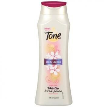 My skin feels soft straight out of the shower- pre lotion! Tone Body Wash Daily Detox White Clay & Pink Jasmine