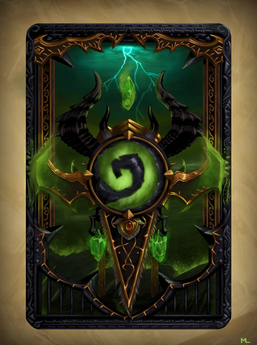 Demon Hunter Card Back by Emelart.deviantart.com on @DeviantArt
