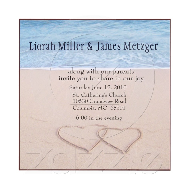 37 best Wedding Invitations images on Pinterest | Beach wedding ...