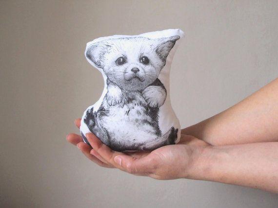 fennec plush animal soft toy baby fennec cushion fox by MosMea, €29.00