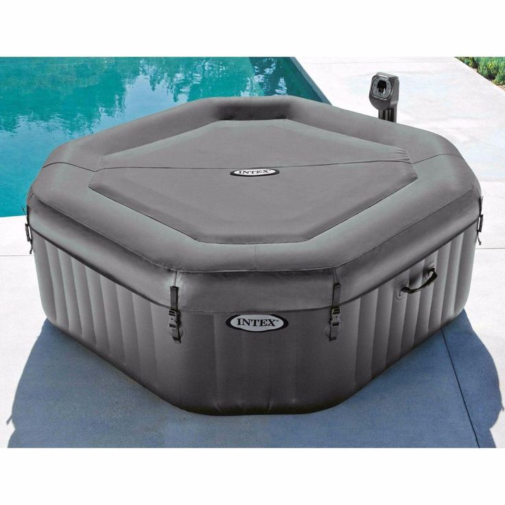 Jacuzzi 4 Person Intex Portable Yard Garden Outdoor Living NEW. Hot Tubs and Spas. Hot Tubs and Spas Features Pamper yourself in relaxing heated water surrounded by soothing bubble jets. The PureSpa provides relaxation at the touch of a button for up to four people. | eBay!