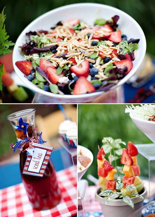 4th of July Salad: Blue Food, July Parties, Mostess Blog, Holidays Independence, Summer Salad, Parties Ideas, July Food, Red White, Independence Day