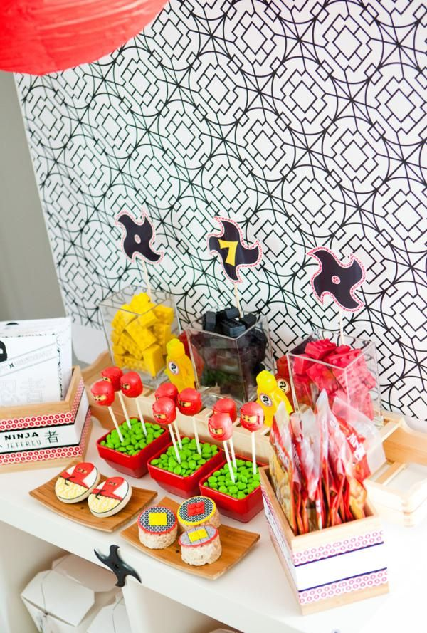 CUTE Ninjago Ninja party via Kara's Party Ideas- www.KarasPartyIdeas.com This whole party is to die for!