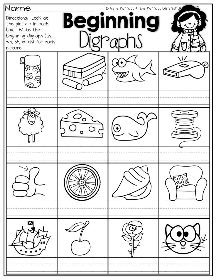 Beginning Digraphs Write The Beginning Digraphs For Each Picture Th Wh Sh Or Ch Phonics Kindergarten Teaching Phonics Digraphs Worksheets