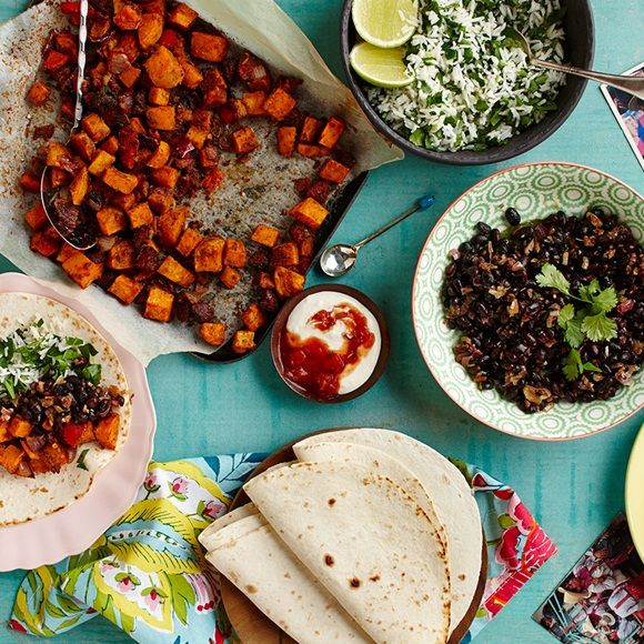 These Sweet Potato and Chorizo Burritos from Old El Paso are made with a simple Mexican recipe!