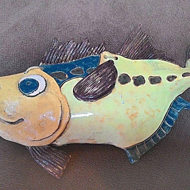 #керамика #авторскаяработа #глазурь #рыба