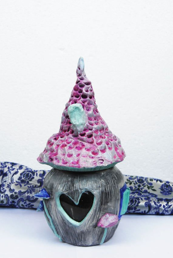 Decorative jar Fairy House jar Princess castle Jar