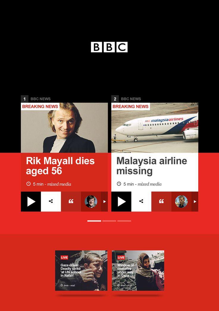 BBC Homepage on Behance