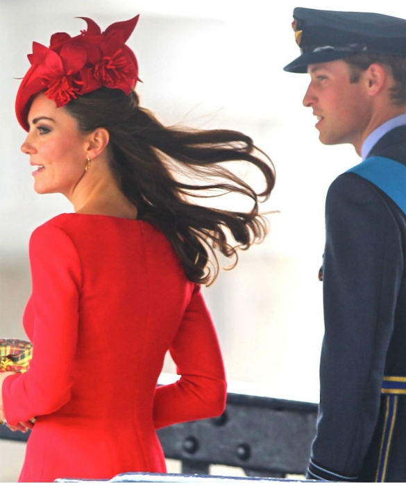 red hat worn by Kate Middleton - who's the designer?