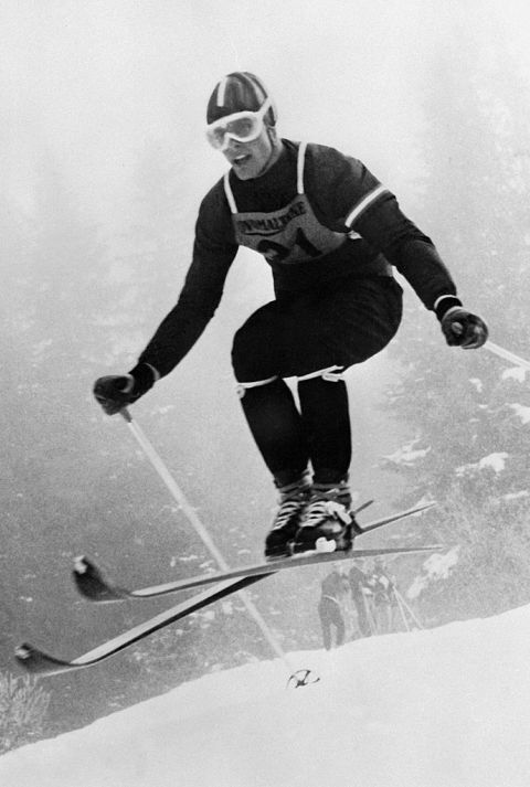 T1956: CORTINA, ITALY Though the 1936 Games were the first to be televised, the 1956 Winter Games were the first to be broadcast to a multi-national audience. Thousands tuned in to see Austrian Toni Sailer become the first Alpine skier to win three gold medals.hough the 1936 Games were the first to be televised, the 1956 Winter Games were the first to be broadcast to a multi-national audience. Thousands tuned in to see Austrian Toni Sailer become the first Alpine skier to win three gold…