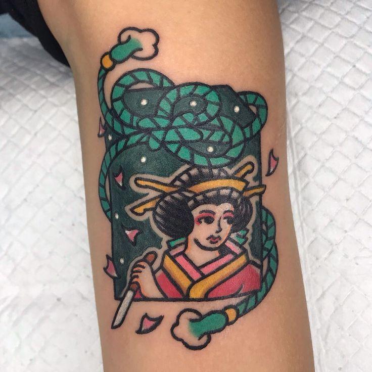 »Sakura Killer« Danke! • • • #tattooideas #tattoo #oldlines #old …