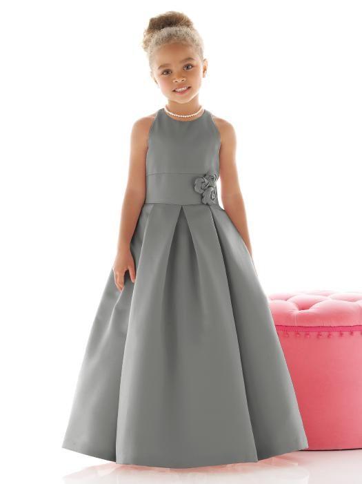 Flower Girl Dress FL4022 http://www.dessy.com/dresses/flowergirl/fl4022/?color=charcoal%20gray&colorid=996#.Uu0uhX-9KK0