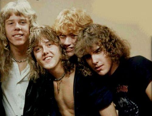 James Hetfield, Lars Ulrich, Dave Mustaine & Ron McGovney