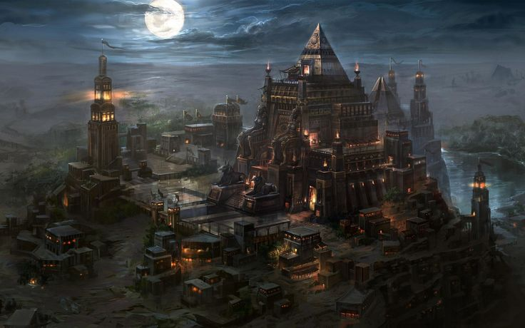 Download wallpaper Art, castle, temple, Atlantis free desktop ...