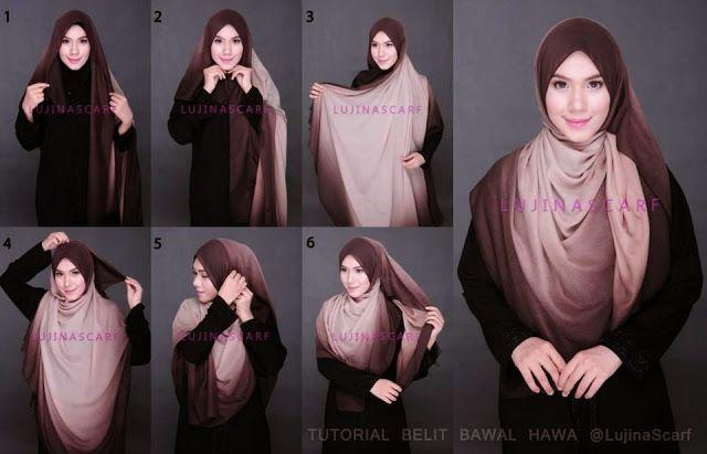 Square scarf hijab style