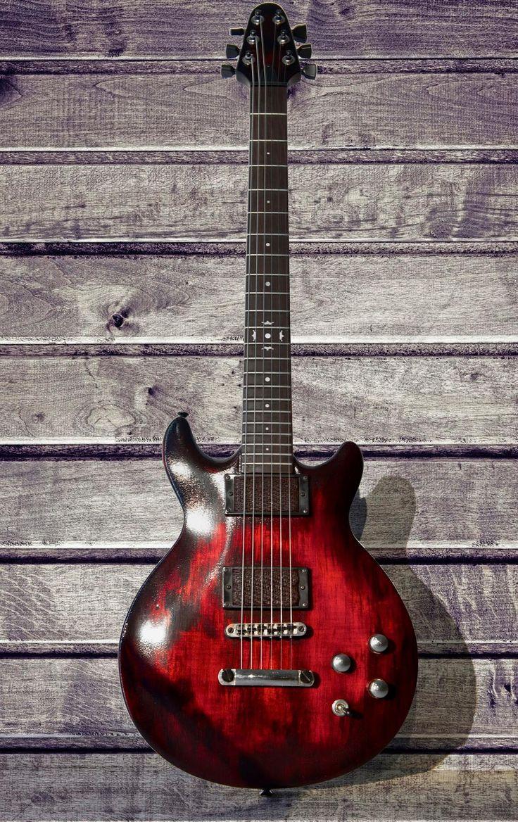 Red Devil Model. Relic finish electric guitar Colombani guitares